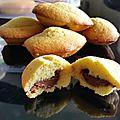 madeleine fourrée au nutella