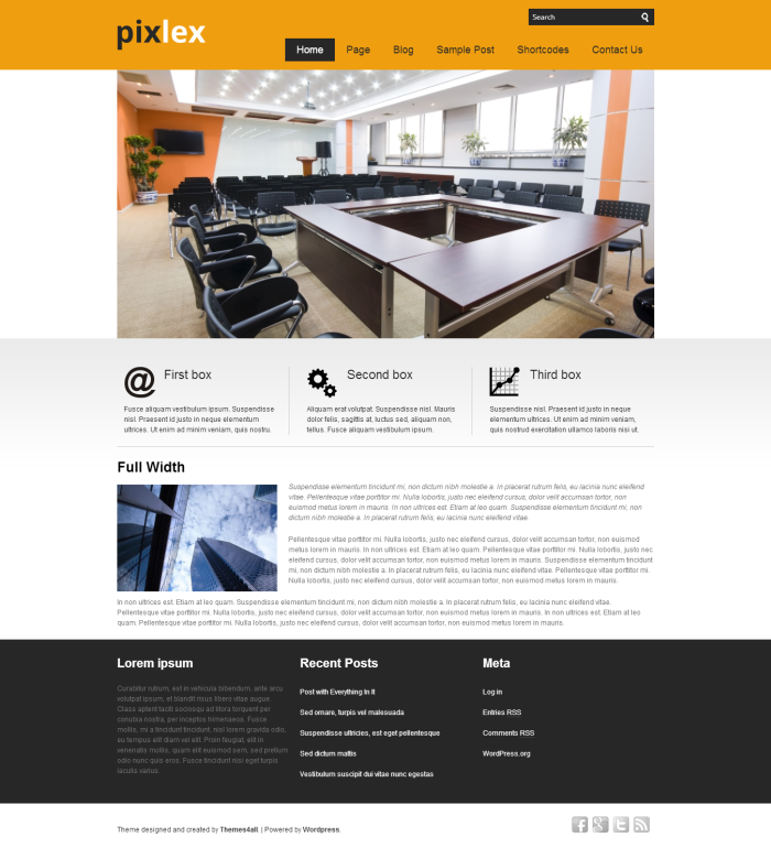 wordpress theme 2014 pixlex