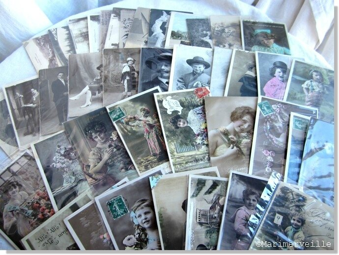 Collection Marimerveille cartes postales rétro chinées