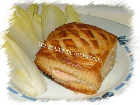 Feuilleté jambon fromage 4