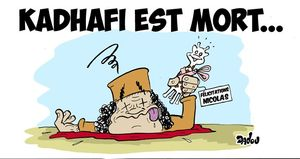 Kadhafi est mort net
