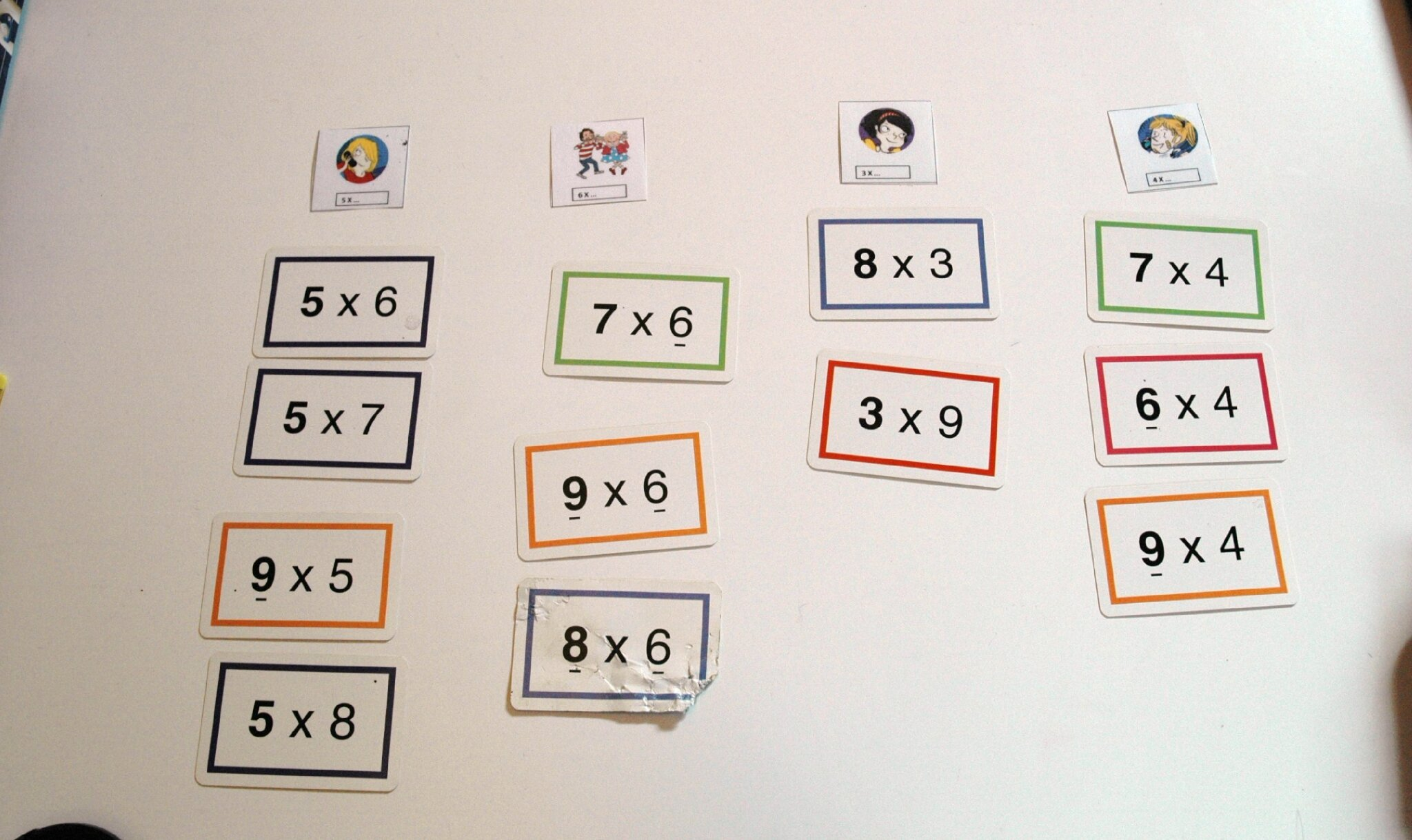Apprendre la table de 8 tables de multiplication de le - La table de multiplication de 8 ...