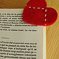 Ide pour la Saint valentin : des petits marque-pages ou marque-places   faire soi-mme !
