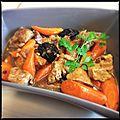 Sauté de porc aux pruneaux et carottes confites [sev]