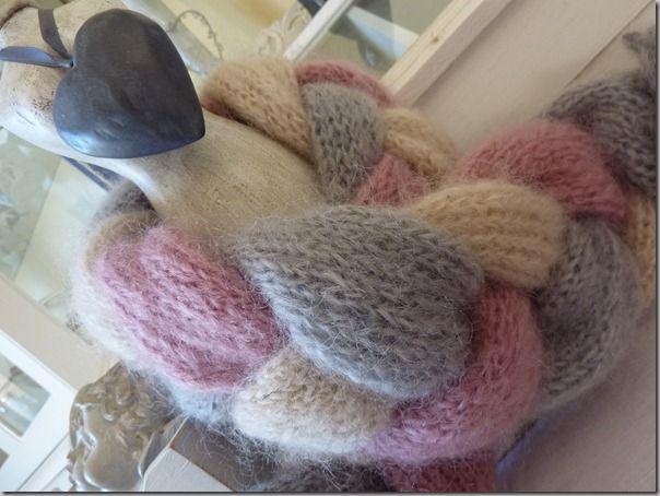 modele tricot echarpe tressee