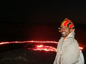 mearg at the edge of the volcano ethiopie