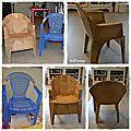 La chaise en plastique : le avant/après