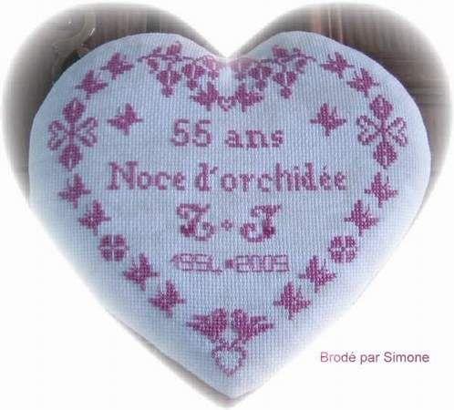 Coeur '' Noce d'Orchidée ''