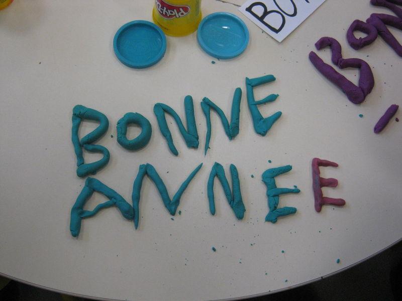 Apprendre à écrire BONNE ANNEE