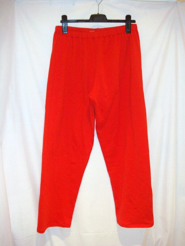 Pantalon pyjama Chris molleton rouge devant flash