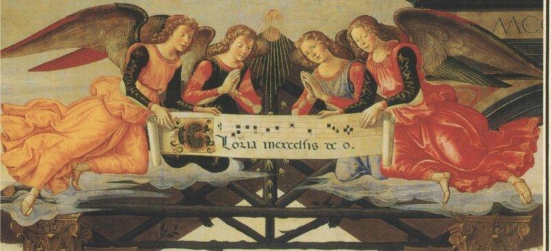 Les anges chantent la gloire de Dieu