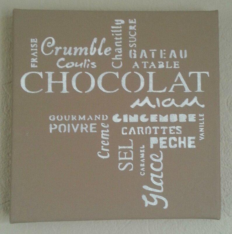TABLEAU20X20_pochoirs chocolat