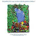 Un livre de poésie francophone illustré par des écoliers