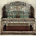 Imperial throne, 3rd quarter 17th century, qing dynasty