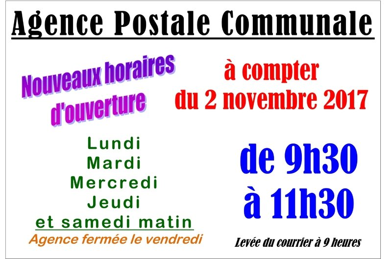 AFFICHE AGCE POSTALE