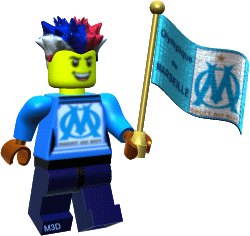 OM Olympique Marseille gif 3d lego supporter