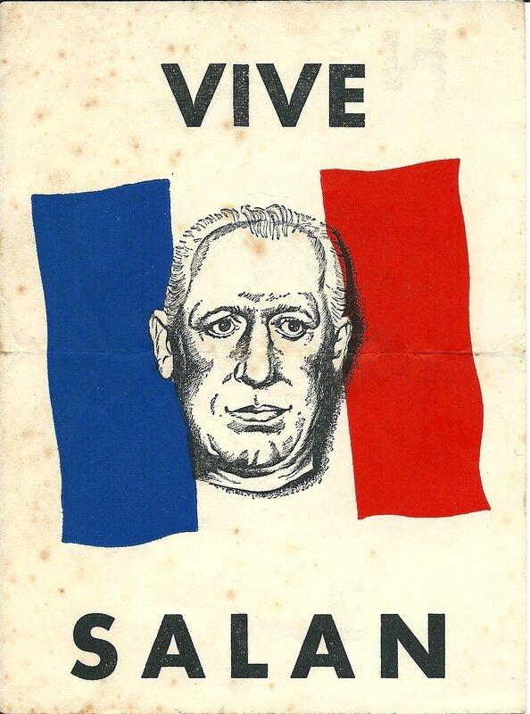Affichette Vive Salan