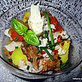 Verrines gourmandes aux pommes de terre + filets de merlu et harengs fumés et son filet d'huile d'olive de provence