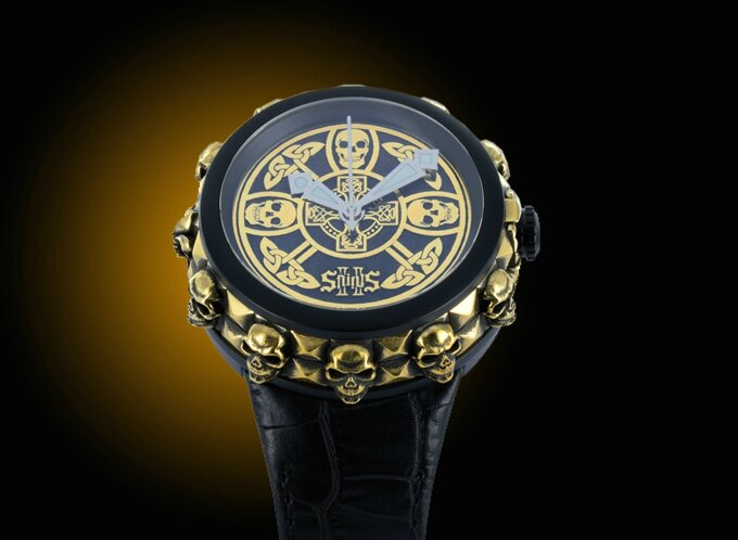 2 saints rock & skulls montre