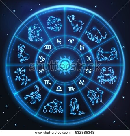 stock-vector-light-symbols-of-zodiac-and-horoscope-circle-astrology-and-mystic-signs-vector-art-and-532885348