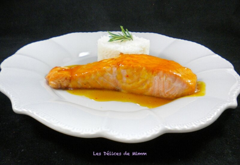 Filets de saumon au caramel d'orange 3