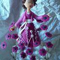 Violette aux fleurs