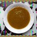 Soupette de carottes des sables aux fanes de radis