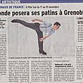 Les internationaux de france en novembre à grenoble !