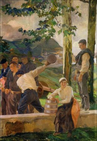 Sorolla_Guipuzcoa_los_bolos_1914_Collection_Hispanic_