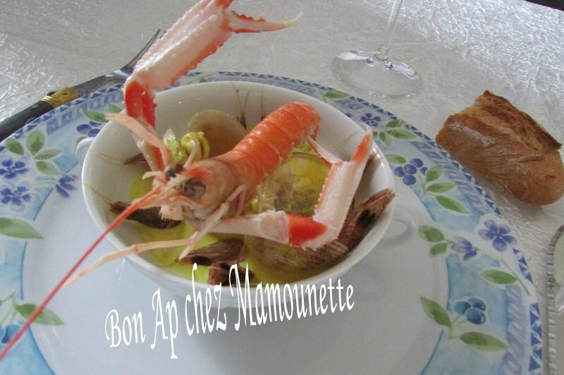 praires curcuma et langoustines crevettes grises 010