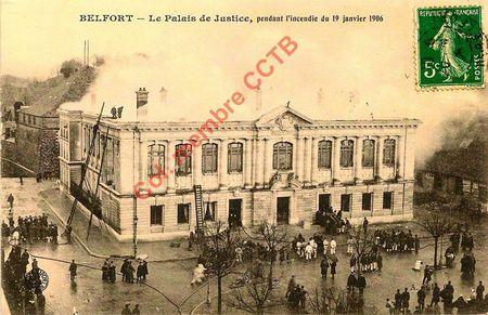 CPA Palais de Justice Incendie 1906 004