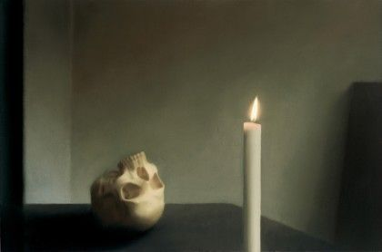 Gerhard Richter, Schdel mit Kerze, 1983, l auf Leinwand  Samm