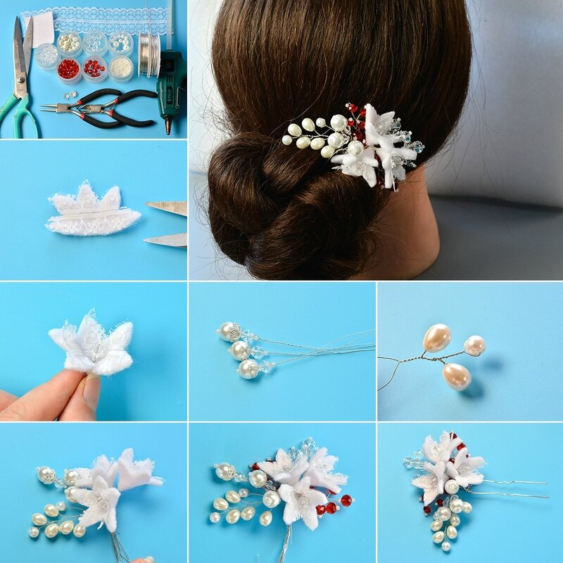 1080-How-to-Make-Handmade-Wedding-Hair-Pins-with-Pearl-Beads-and-Glass-Beads-Decorated