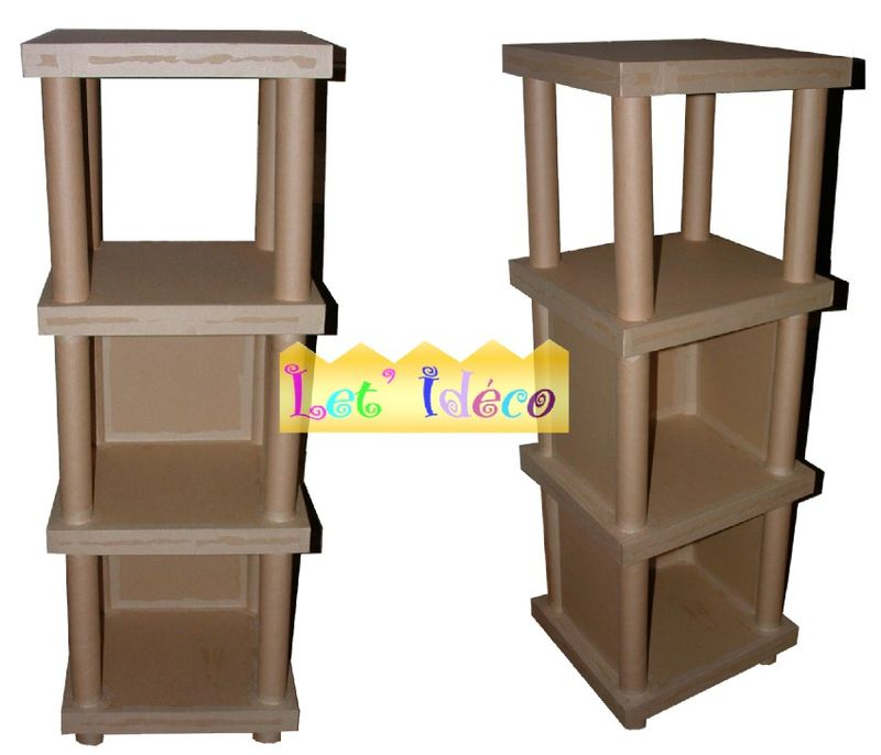 meuble en carton une petite tag re le blog de let 39 ideco. Black Bedroom Furniture Sets. Home Design Ideas