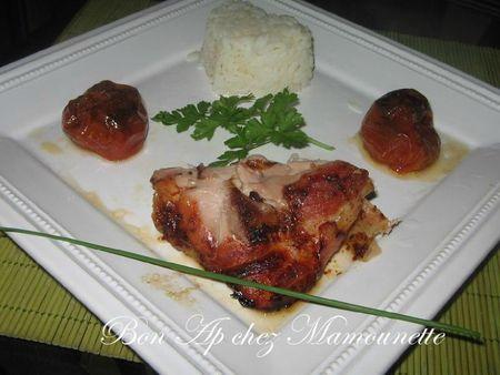 Cuisse de dindonneau miellé aux tomates confites 012