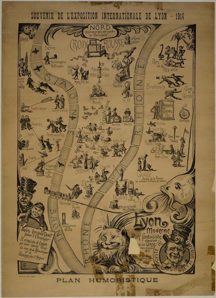 1914 Plan Humoristique