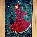 Le petit chaperon rouge a bien grandi...toile 60 x 90 cm, peinture acrylique et technique mixte