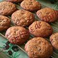Les cookies aux pépites de chocolat et noix