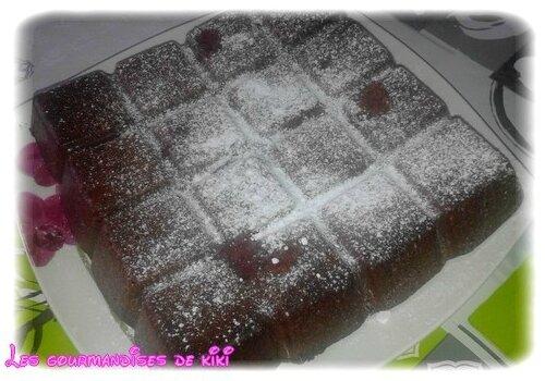 gateau chocolat framboise