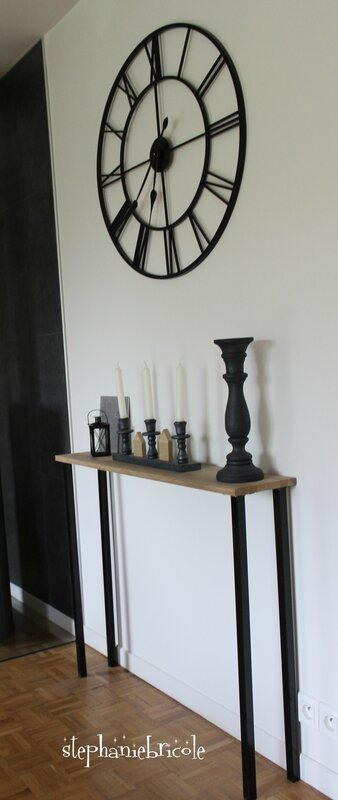 diy d co faire un meuble console au style industriel soi m me rapide et pas cher st phanie. Black Bedroom Furniture Sets. Home Design Ideas