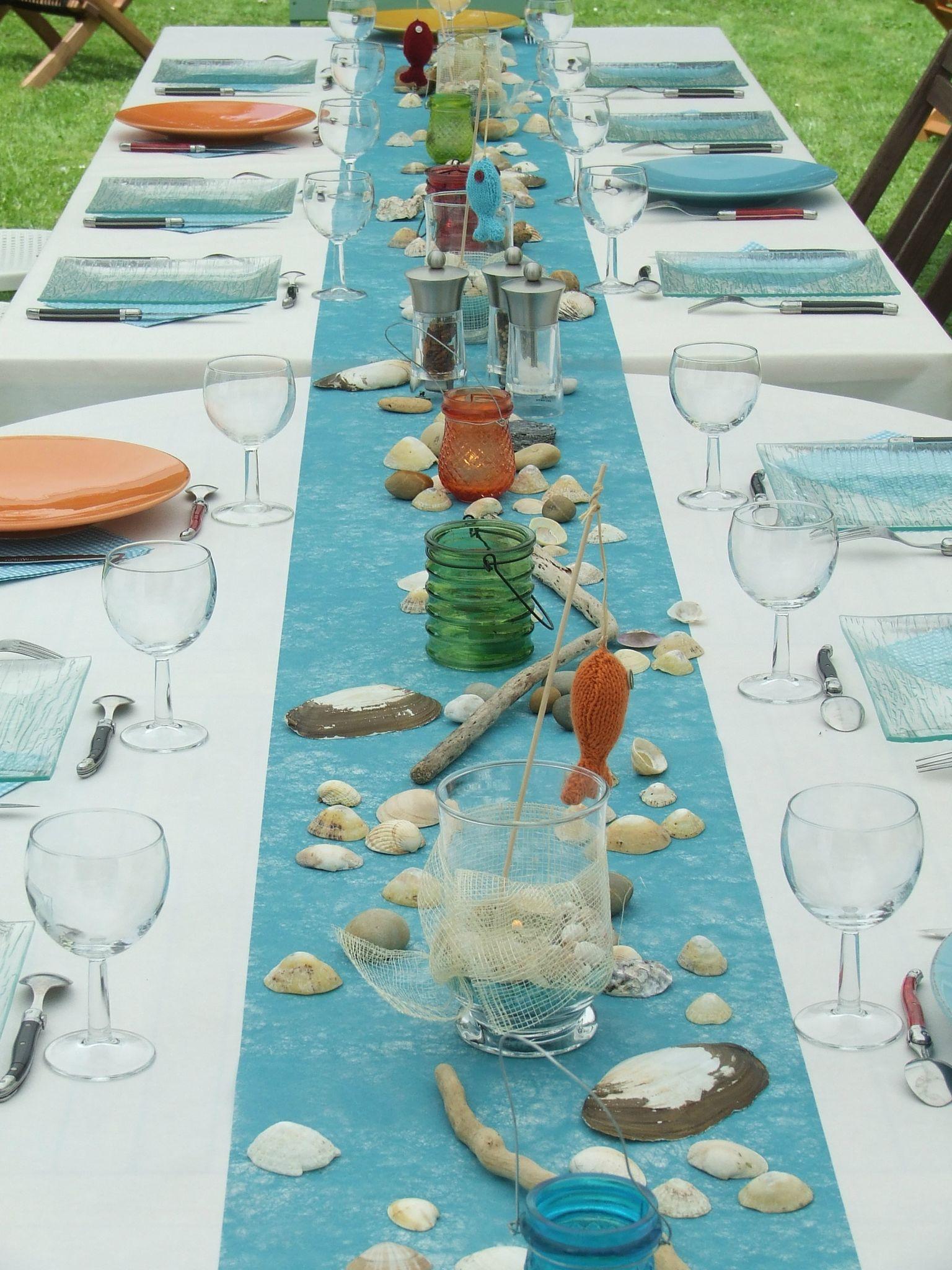 D co de table marine photo de d coration de table la - Comment faire une decoration de table ...