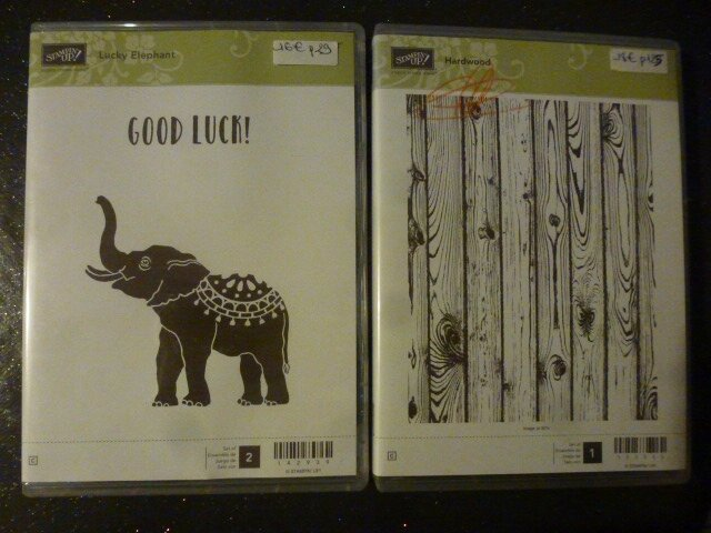 19b Tampons Gd format Lucky Elephant et Hardwood