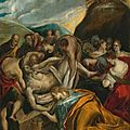 Domenikos theotokopoulos, called el greco (candia (herakleion), crete circa 1541 - 1614 toledo° ), the entombment of christ