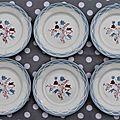6 assiettes a dessert ou entremets digoin sarreguemines decor alpestre