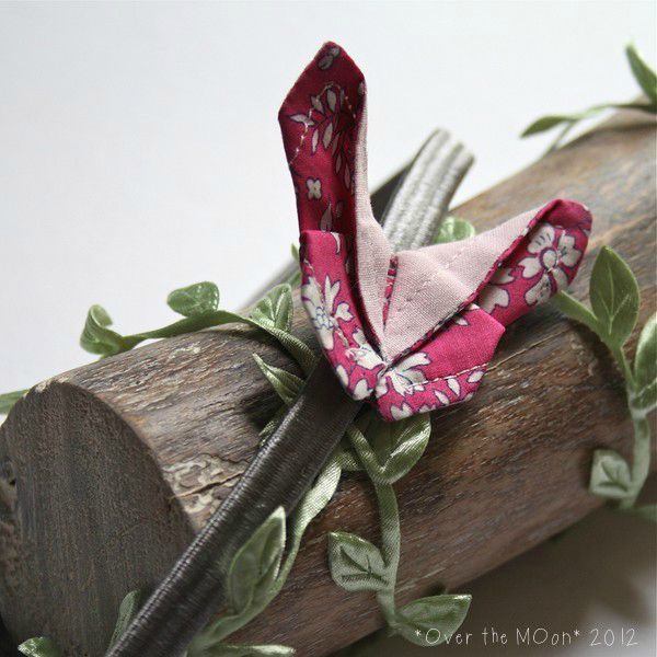 Headband OB gris et rose
