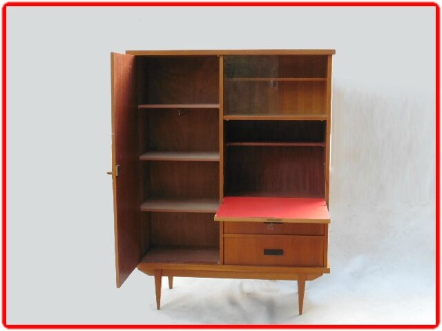 armoire secretaire vintage annees 1960 vendu meubles et d coration vintage design scandinave. Black Bedroom Furniture Sets. Home Design Ideas