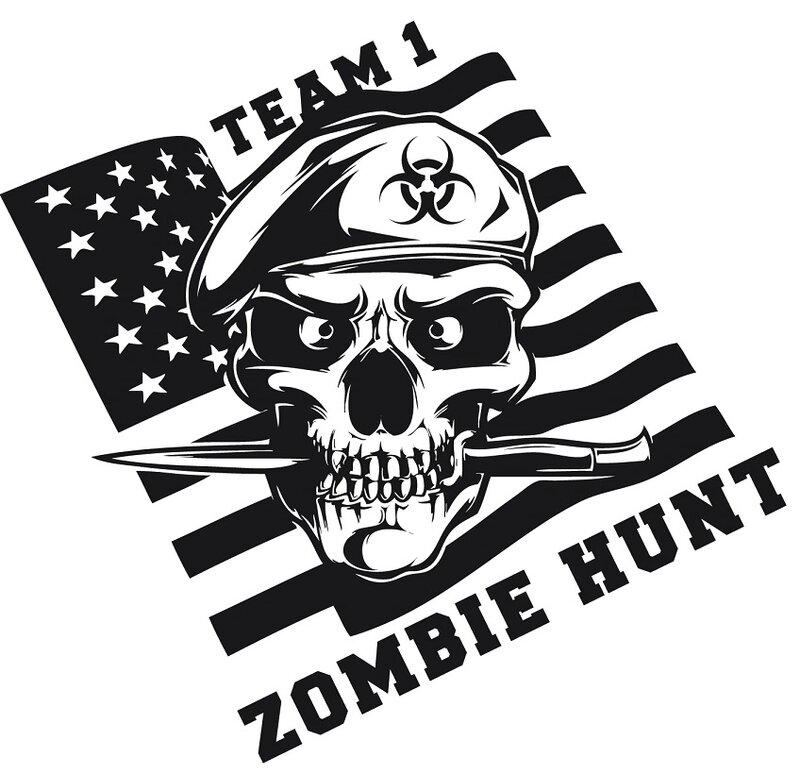 Zombie - zombie outbreak - Zombie party - Zombie response - Zombie hunter - Zombie team - biohazard - Printables - labels - Halloween - Airbone - Special force - Delta force - decal - Unt