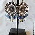 BO Aztèque (chambray, bleuet et écru) - 37 €