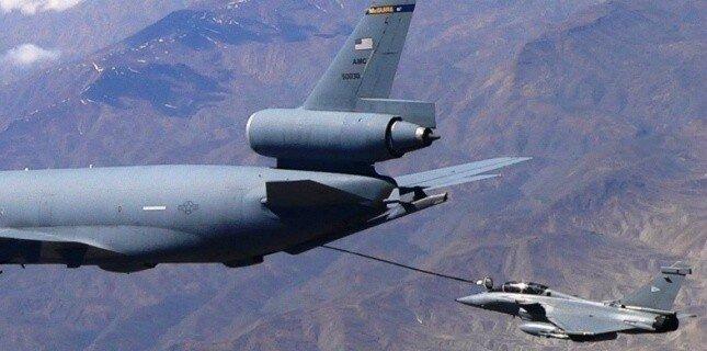 Rafale ravitaillement par l'USAF
