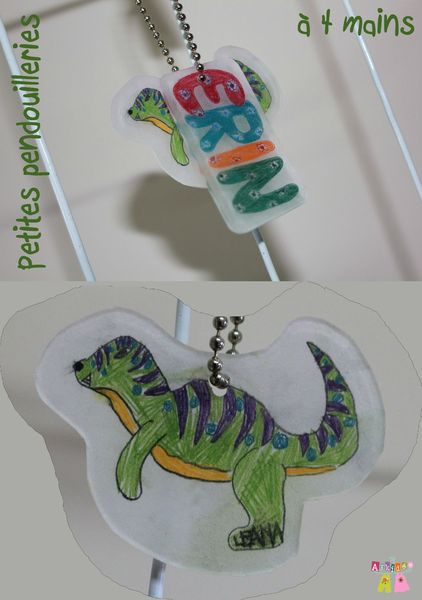 Pendentif Dino et prénom